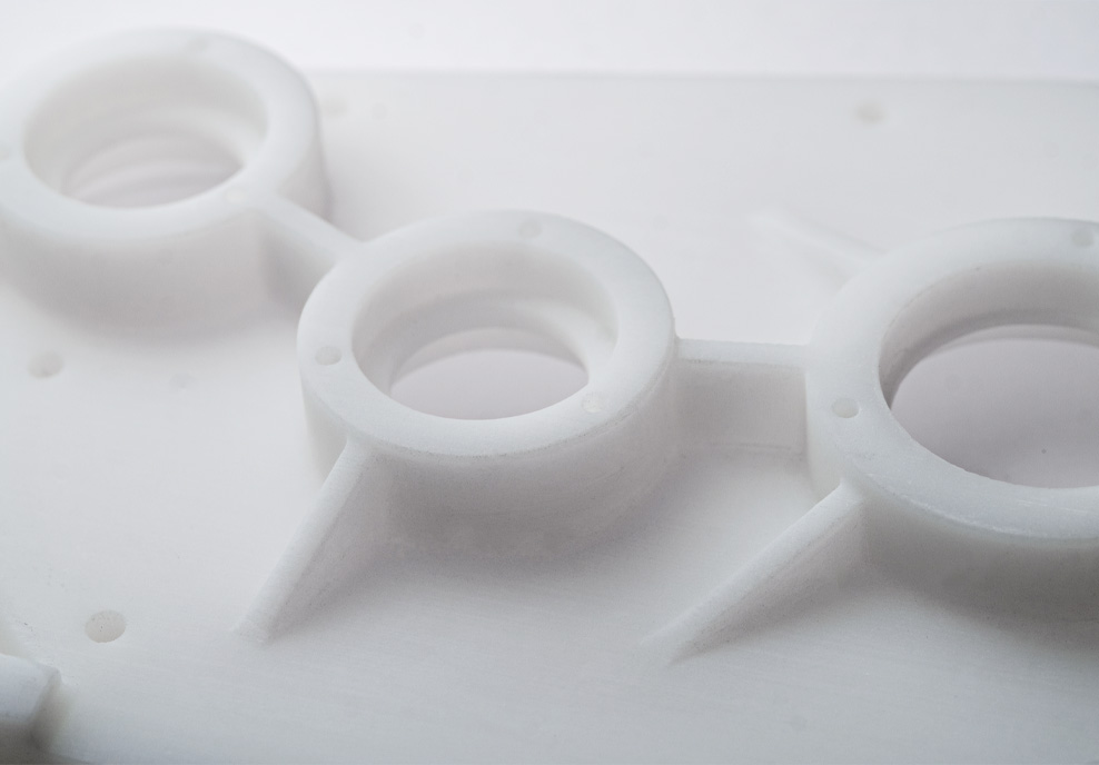 SLA 3D Printing Close Up